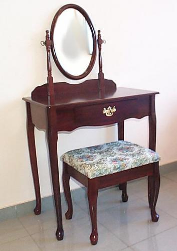 Tocador con taburete la puerta carpinteria for Muebles de oficina merida yucatan
